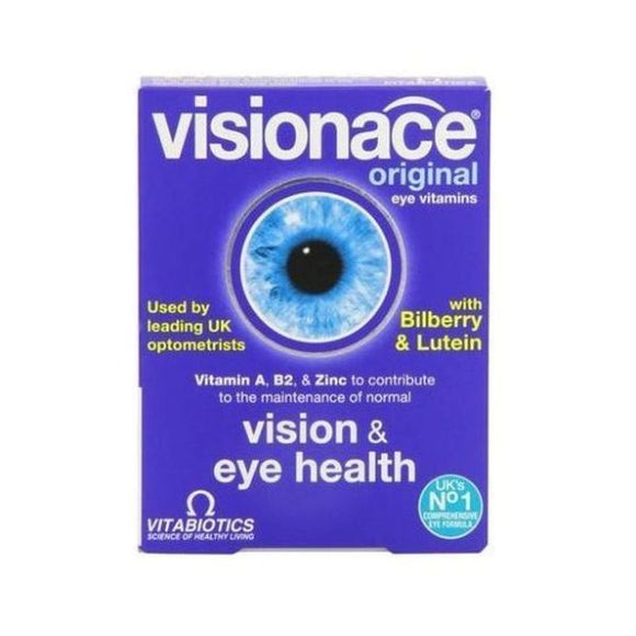 Vitabiotics Visionace - Contains Vitamin C D & E Betacarotene One-A-Day 30tabs