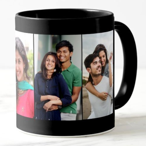 exciting Lives Personalised Coffee Mug (Black Personalised Mug)