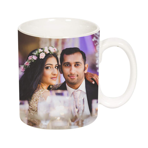 Personalised Photo Ceramic Coffee Mug, 325 ml, White