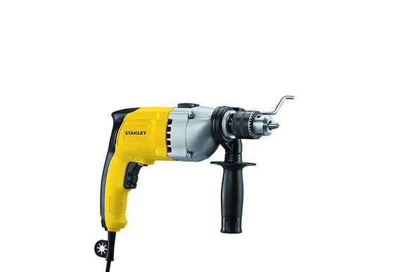 Stanley 720-Watt 13mm Percussion Drill with Kitbox (Yellow and Black)