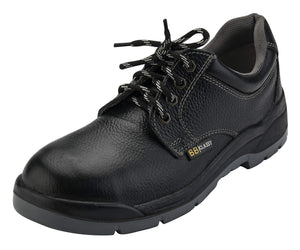 BIGG BOSS CLASSY STEEL TOE GENUINE LEATHER PU DOUBLE DENSITY SOLE SAFETY SHOES (6)