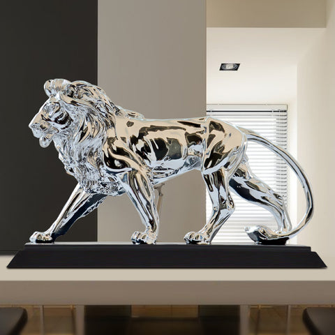 Lion Sculpture Statue Silver home decoration