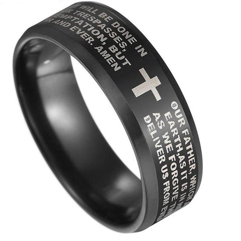 High Quality Jesus Cross and Prayer Ring