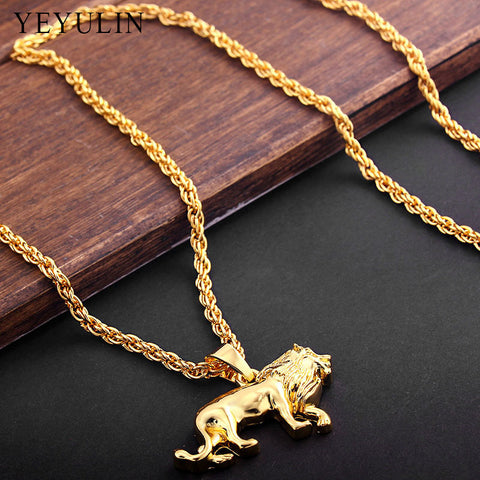 High Quality Alloy animal Lion Pendant Necklace(Unisex)