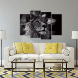 Lion 4 Panels Modern Wall Art For Decoration