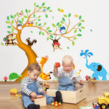Animal Cartoons Wall Art Decals for Kids Room Home Decoration