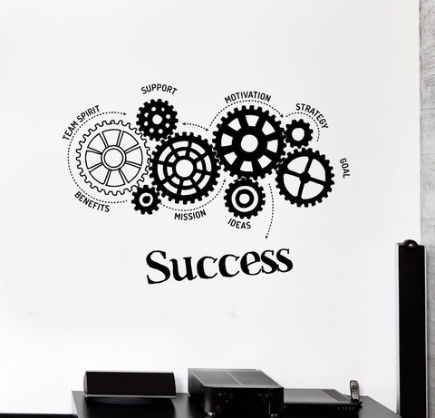Quotes Vinyl Wall Decal Success Words Office Motivation
