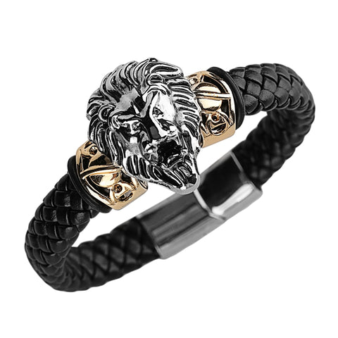 Cool Lion Head Stainless Steel Bracelet for Men