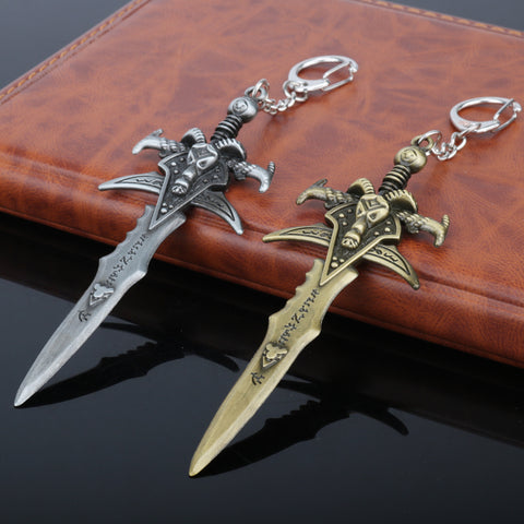 Sword Weapon Dagger Metal Figures Keychain