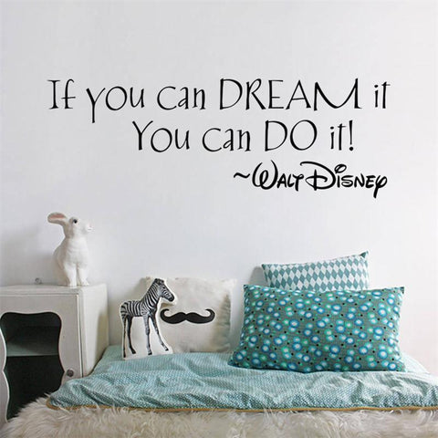 Inspiration Quote Dream It You Can Do It words home decor wall decal