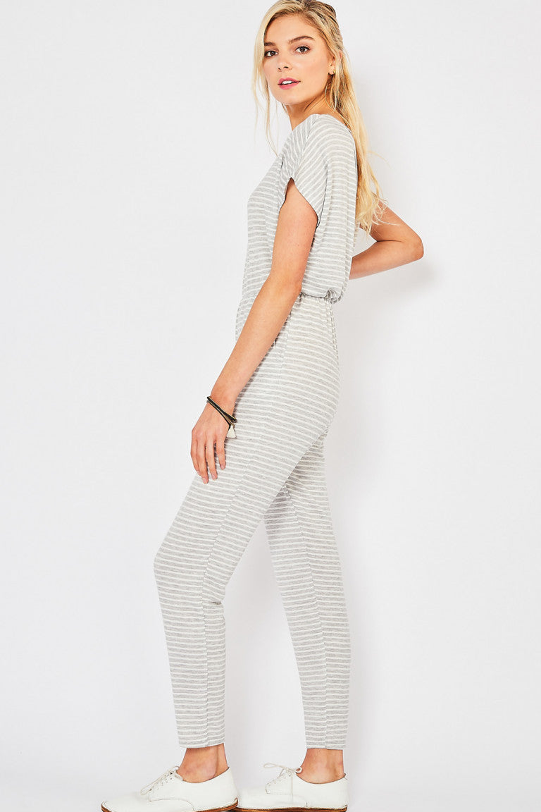Cloudy Day Striped Jumpsuit