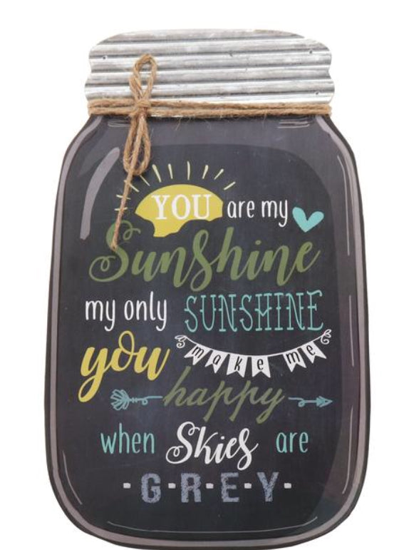 """Sunshine when skies are grey"" Box Sign"