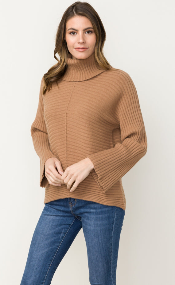 Turtle Neck Sweater W/ Wide Sleeve