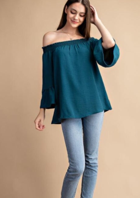 Lucky Together Off-The-Shoulder Blouse