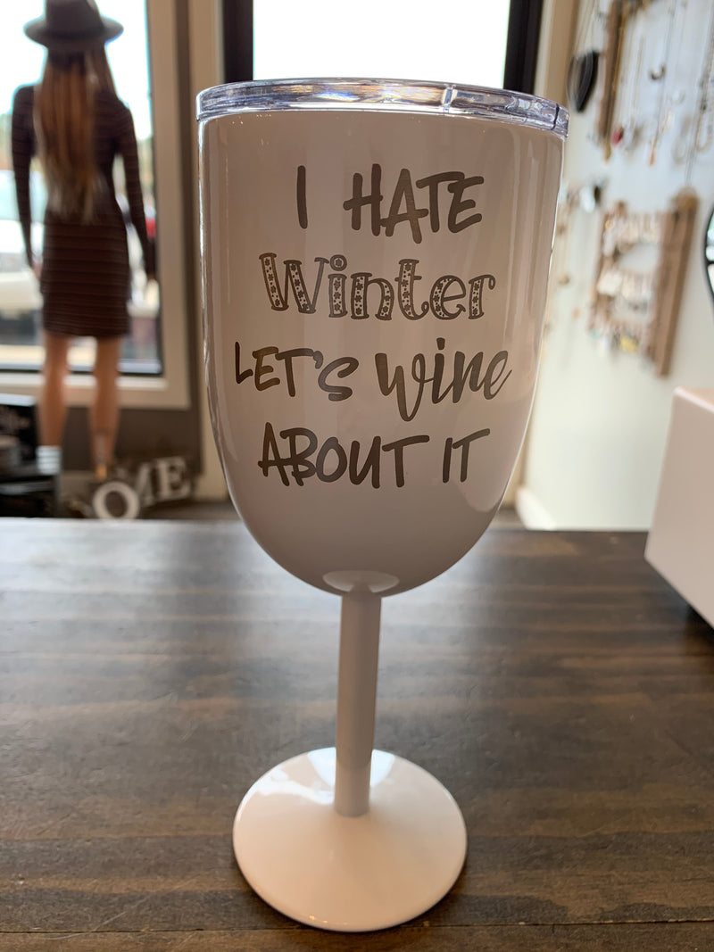 I Hate Winter Stem Travel Mug