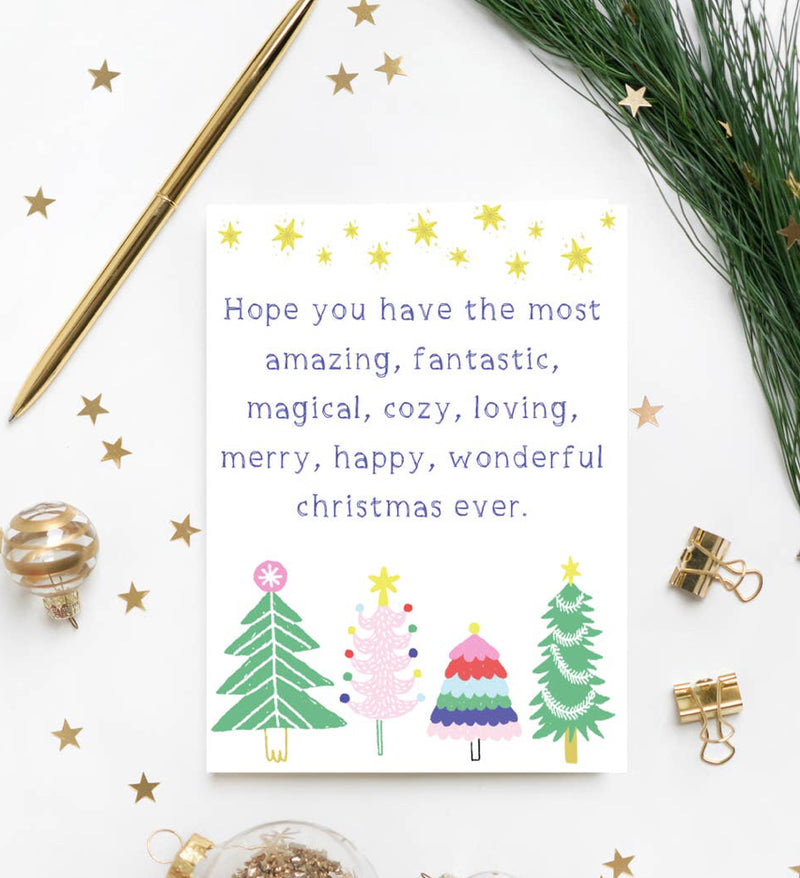 """Wonderful Christmas"" Card"