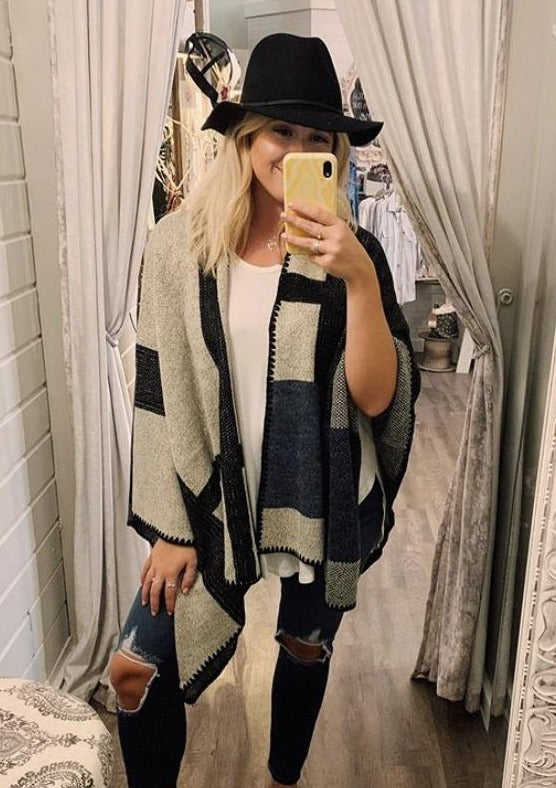 Large Checker Poncho