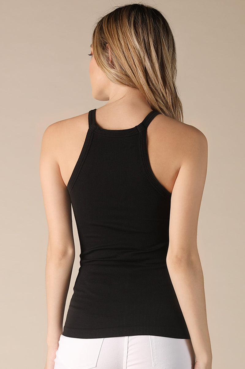 Heidi Highneck Tank (Black)