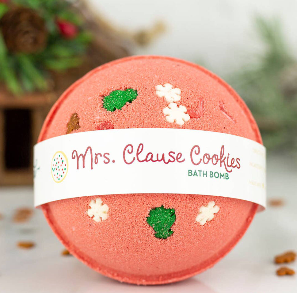 """Mrs. Clause Cookies"" Bath Bomb"