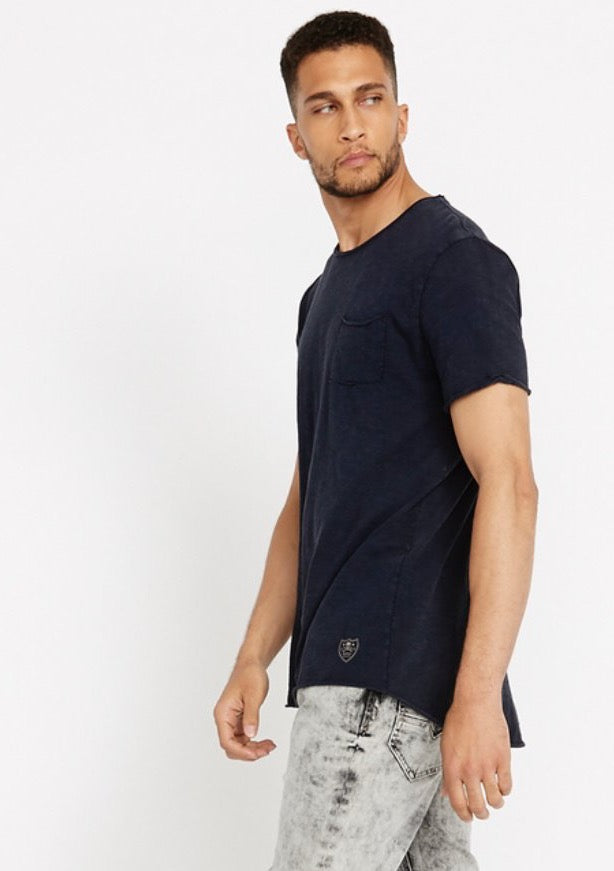 Midnight Blue Short Sleeve With Front Pocket