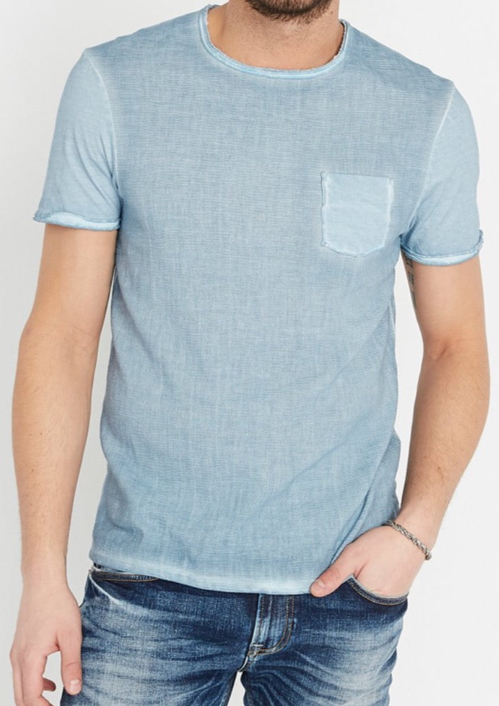 Blue Mirage Shirt With Front Pocket