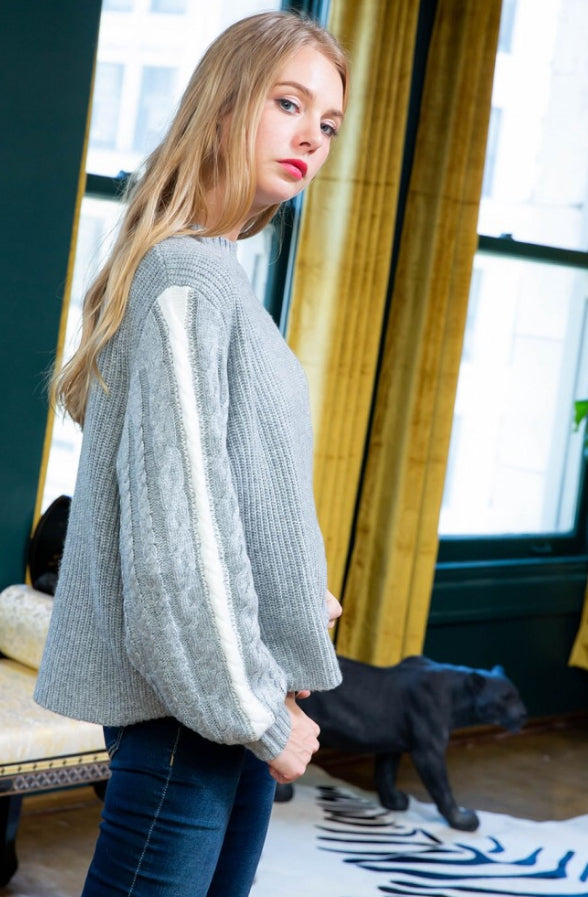 The Perfect Pair Cable Sweater