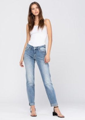 women's boyfriend fit denim