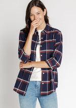 navy blue flannel