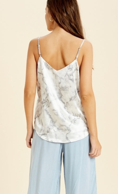 Marble Magic Satin Cami