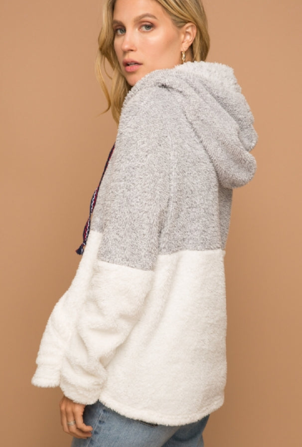 So Soft Silver & Ivory Pullover