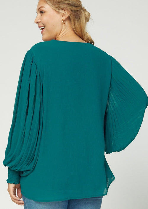 Pleated Blouse (Curvy Collection)
