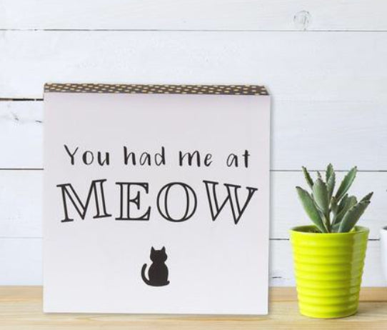 """You Had me at Meow"" Box Sign"