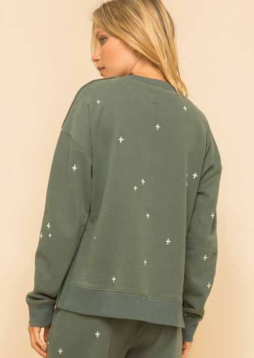 The Maggie Soft Embroidery Sweatshirt