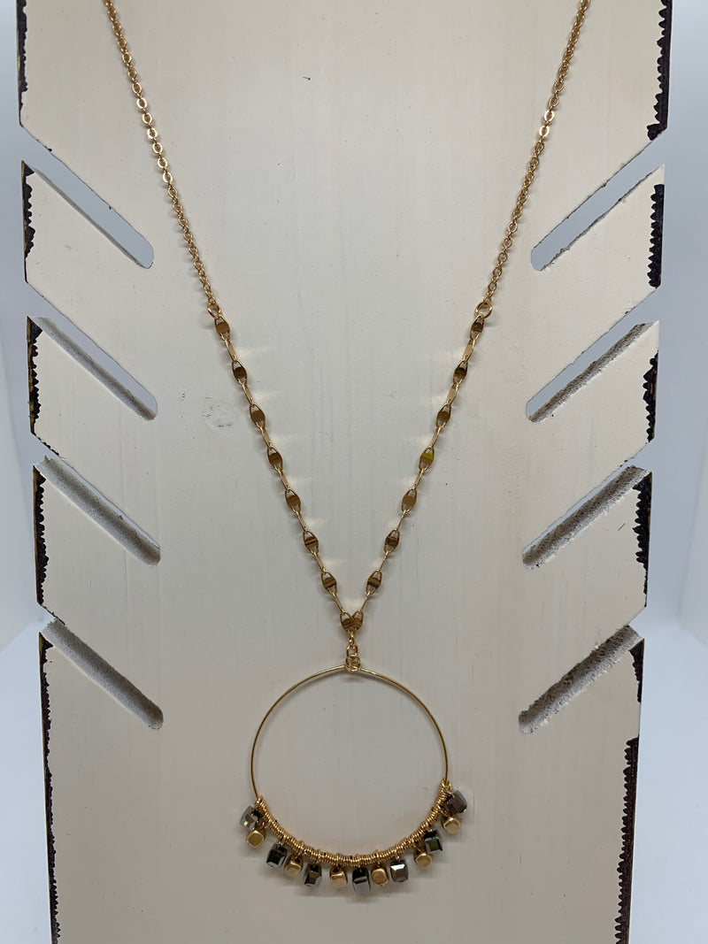 Cleo Gold Dangle Necklace