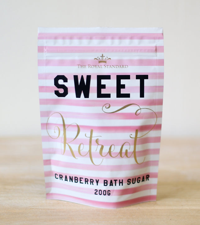 Sweet Retreat Cranberry Bath Sugar
