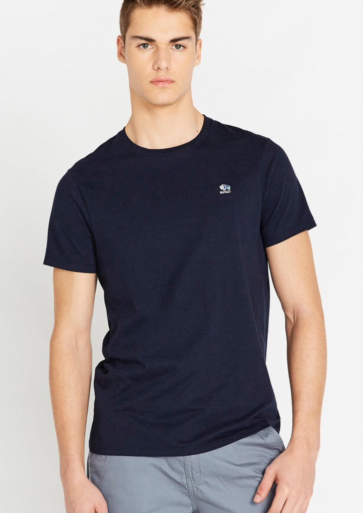 Short Sleeve Crew Neck Tee Heather Blue