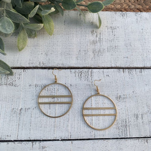 Boho Round Brass Hoop Earrings