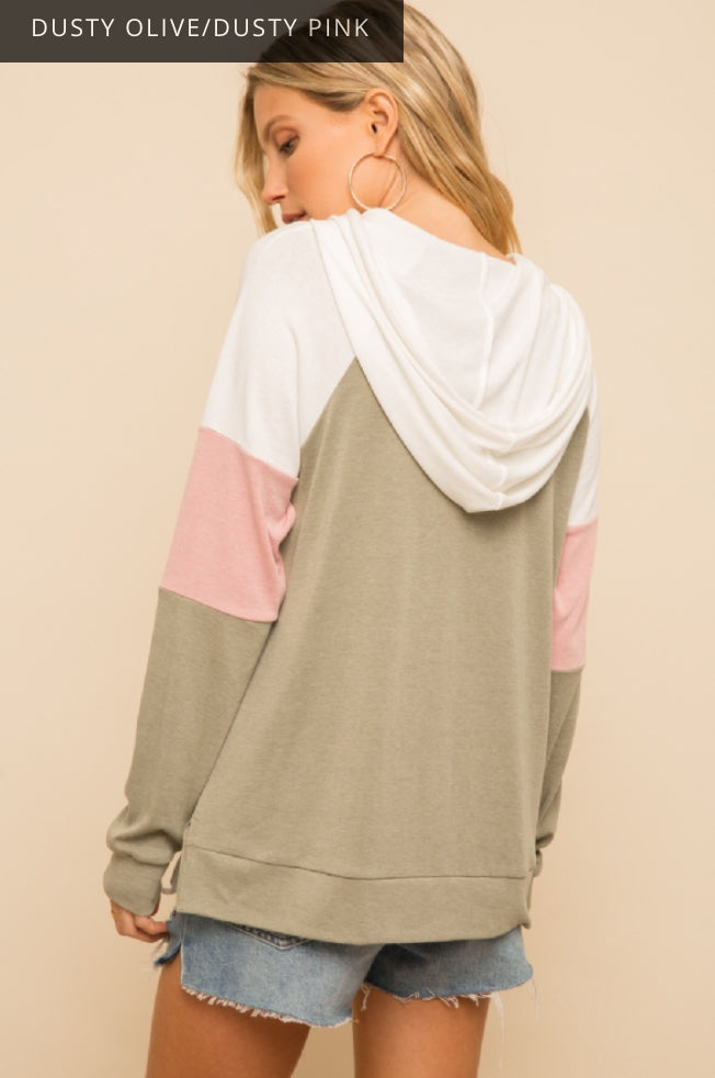 Home Bound Color Block Hoodie