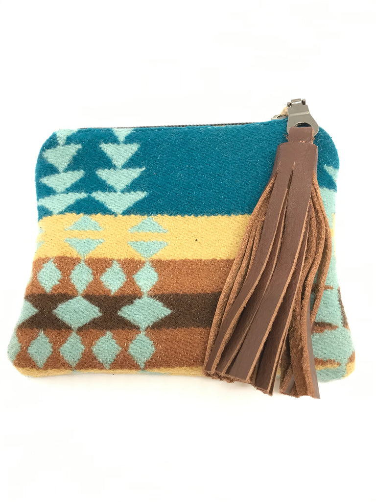Brown Tassel/Earth Tones Aztec Pattern Coin Purse