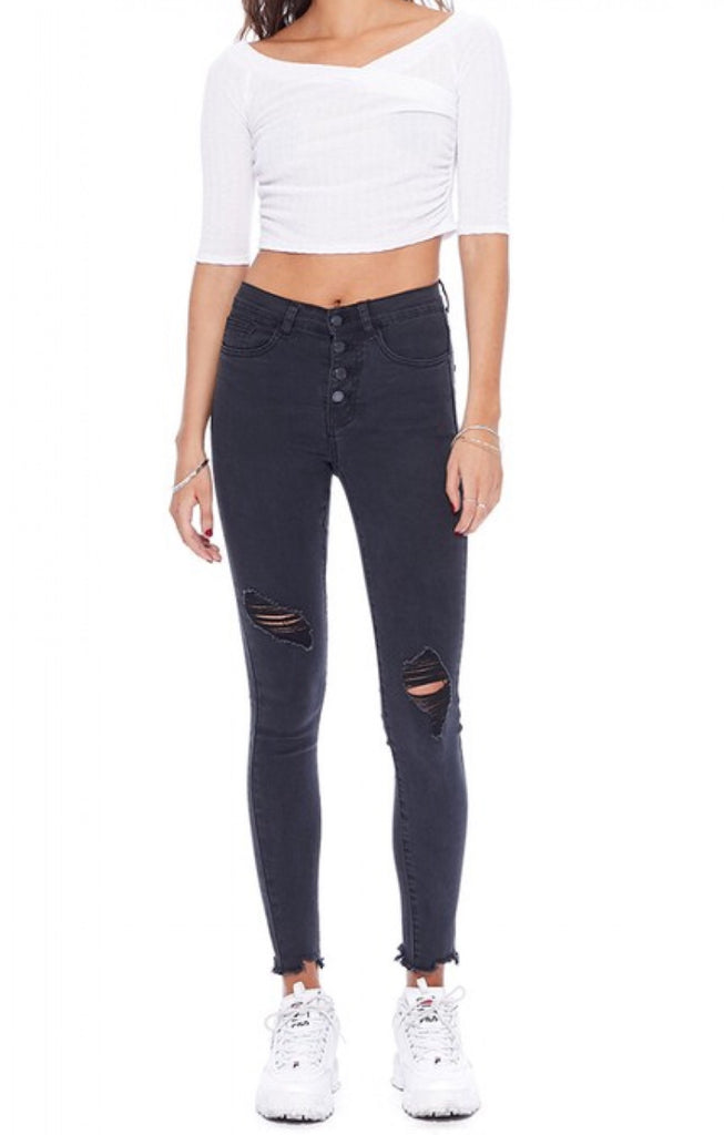 Dark & Dainty Distressed Skinny