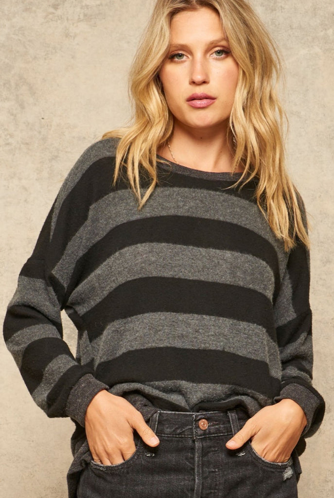 On The Go Striped Knit Top