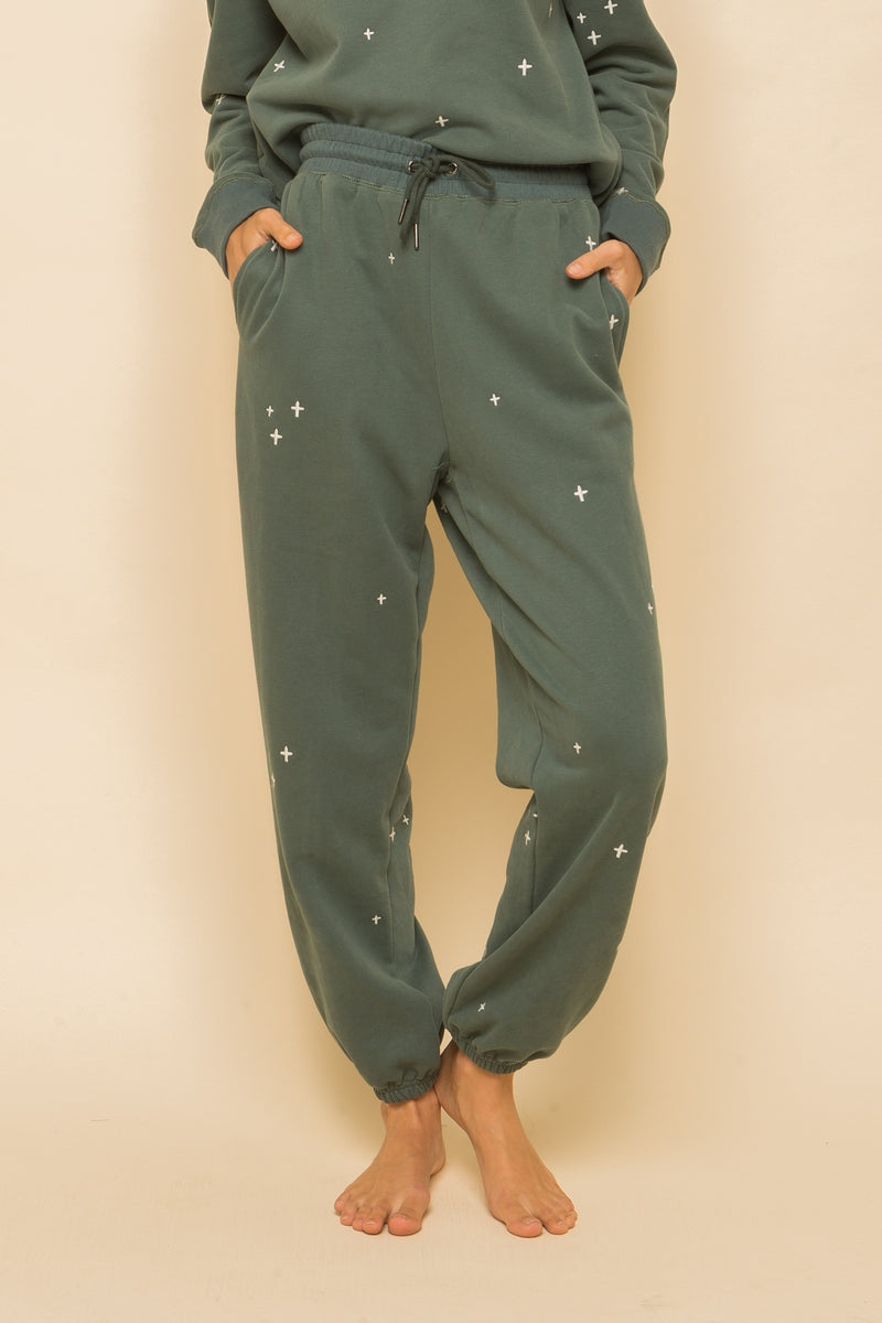 Maggie Soft Embroidered Sweatpants