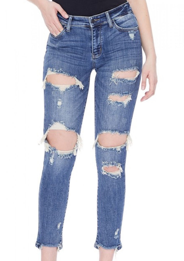 Rough Around The Edges Distressed Jeans