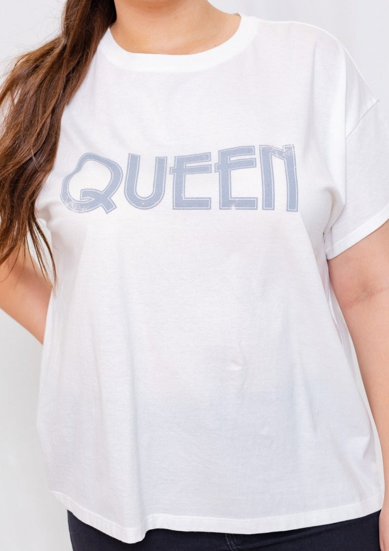 Queen Graphic Tee (Curvy Collection)
