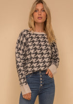 hound tooth sweater