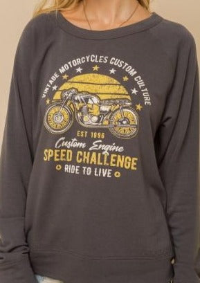 Vintage Motorcycle So Soft Sweatshirt