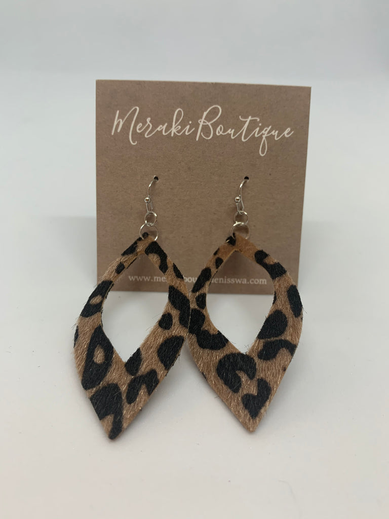 Cheetah Fur Dangle Earring