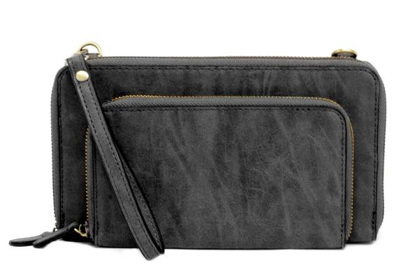 Mini Convertible Zip Crossbody Wristlet
