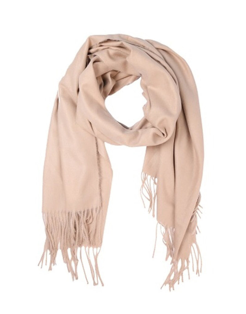 Solid color oblong scarf