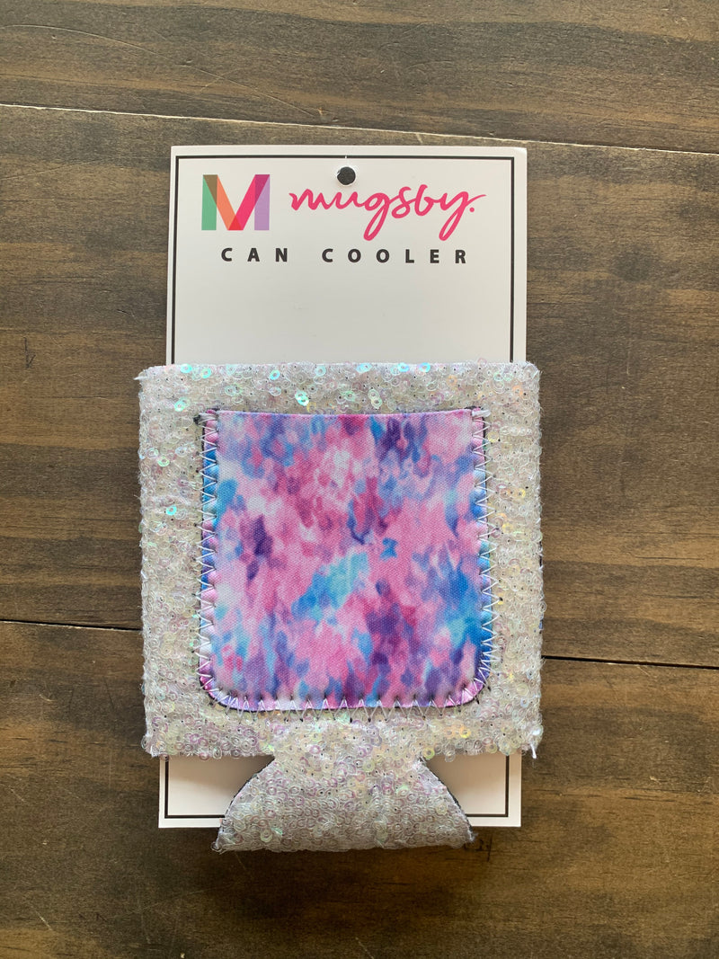 Abstract Sequin Can Cooler